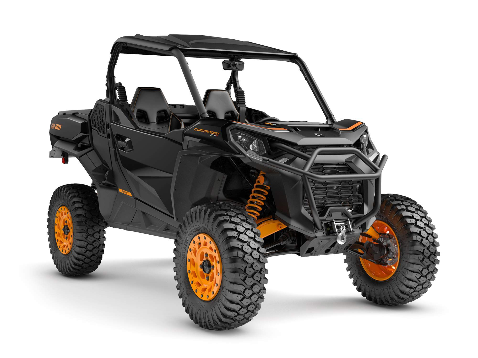 The 2022 Can-Am Commander XT-P sits at the top of the company's sport-utility side-by-side offerings, with a long list of upgrades over the base model and 100 horsepower from a 976cc v-twin.