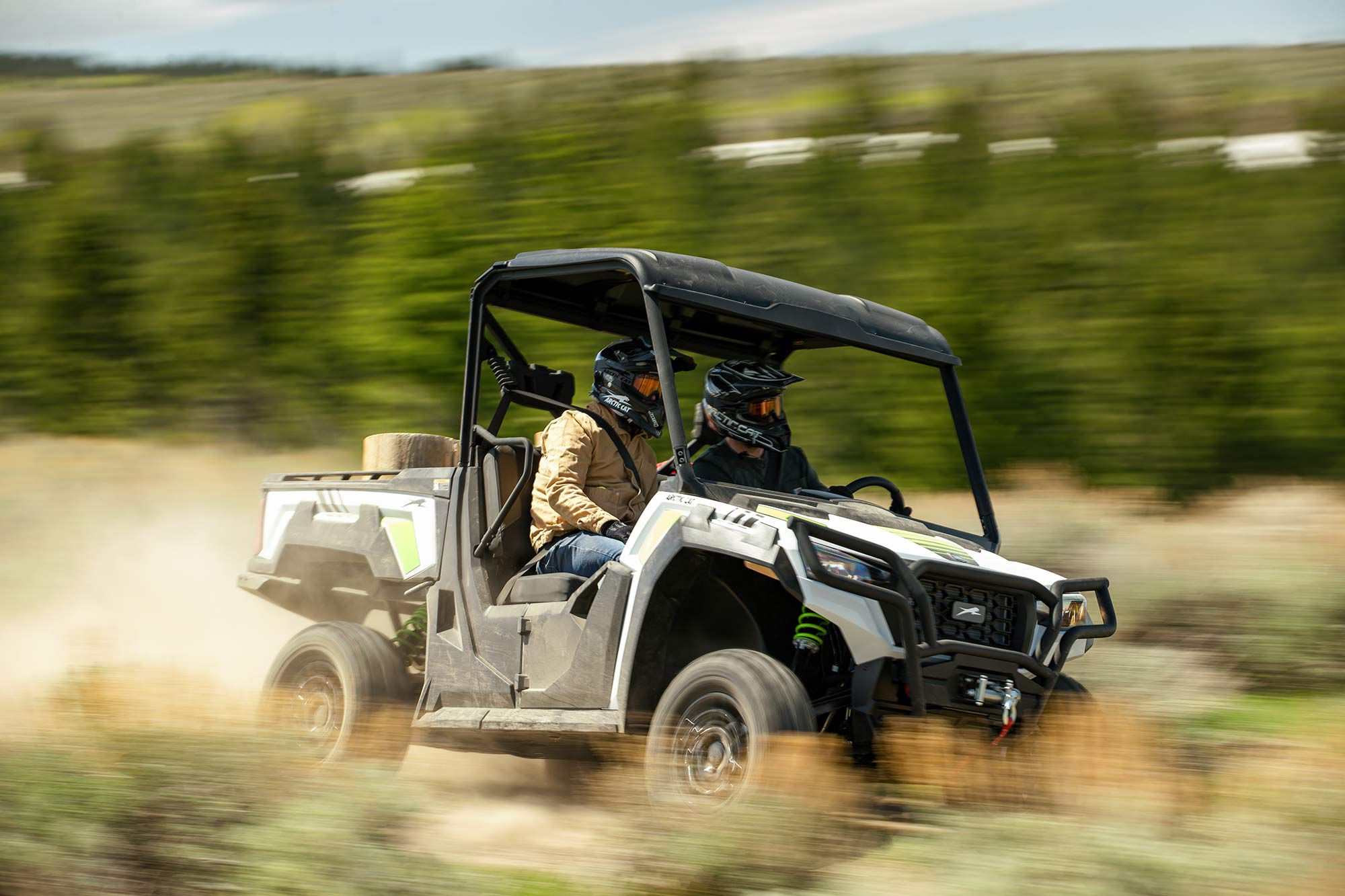 The 2021 Arctic Cat Prowler Pro at play.