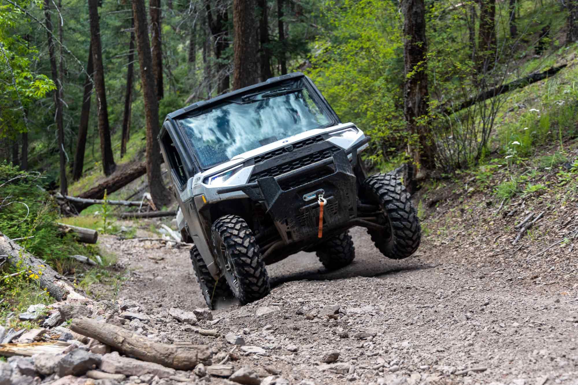 Traveling in the Gila is more about communing with nature than it is technical driving, but that doesn't mean there's no technical driving. The 2021 Polaris Ranger XP1000 Trail Boss NorthStar Edition handled it all like a boss.