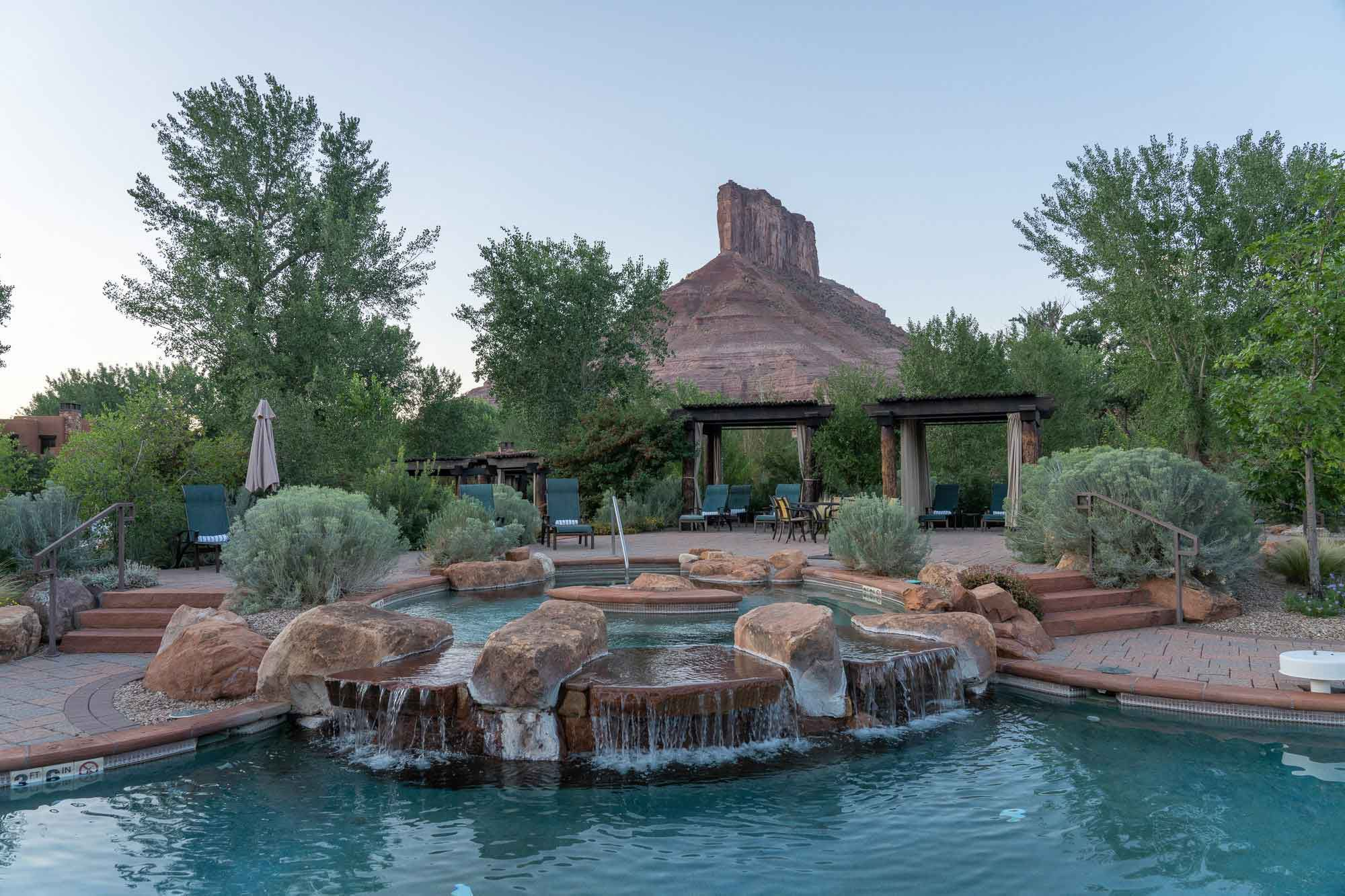 One of Gateway Canyons Resort & Spa's many relaxing spaces.