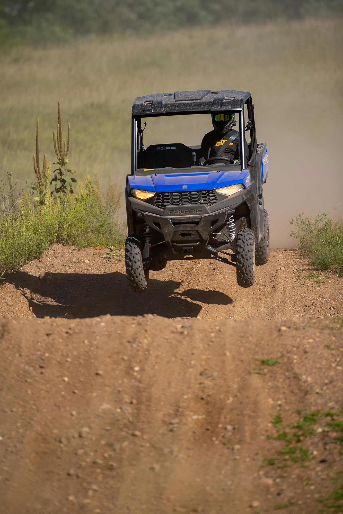 The Ranger SP 570 isn't just for work. With excellent suspension, it's made to have some fun too.