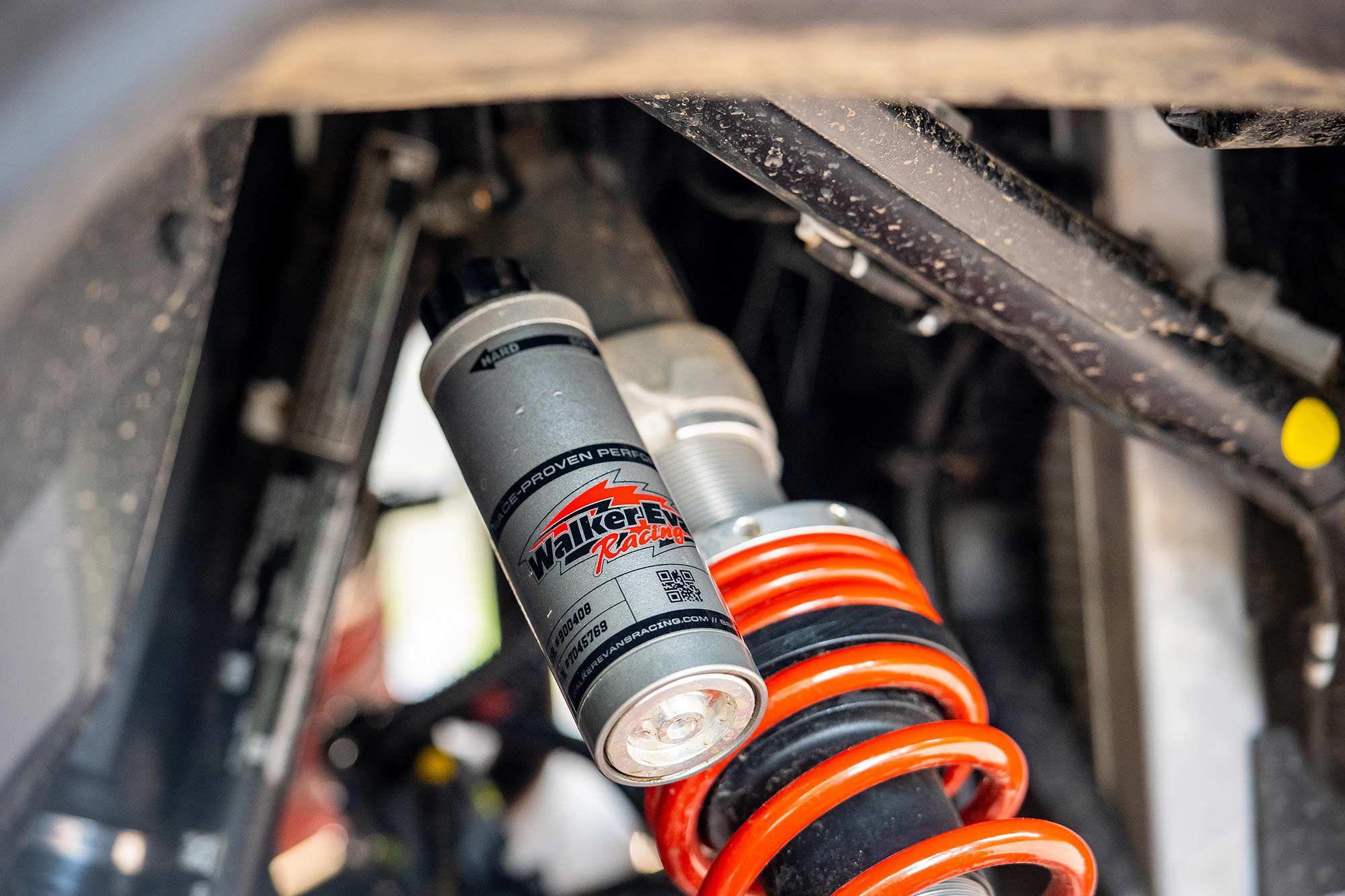 Walker Evans suspension helps make this adventure rig feel sporty.