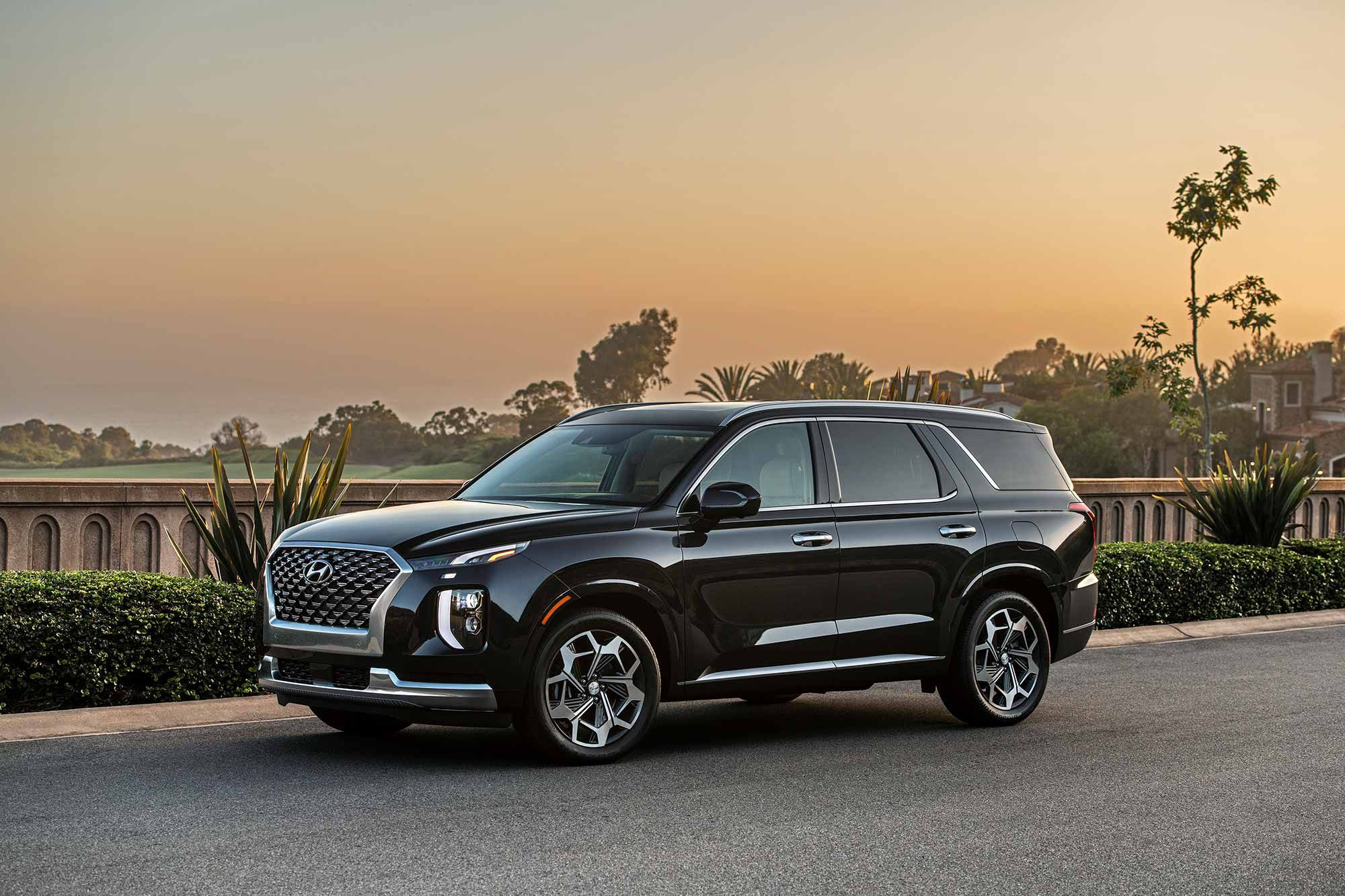 The 2021 Hyundai Palisade can tow up to 5,000 pounds.