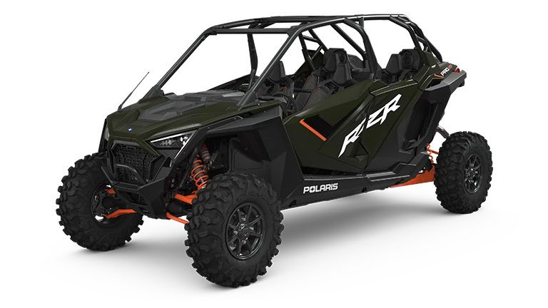 The 2022 Polaris RZR Pro XP Ultimate Edition shown here in Army Green.