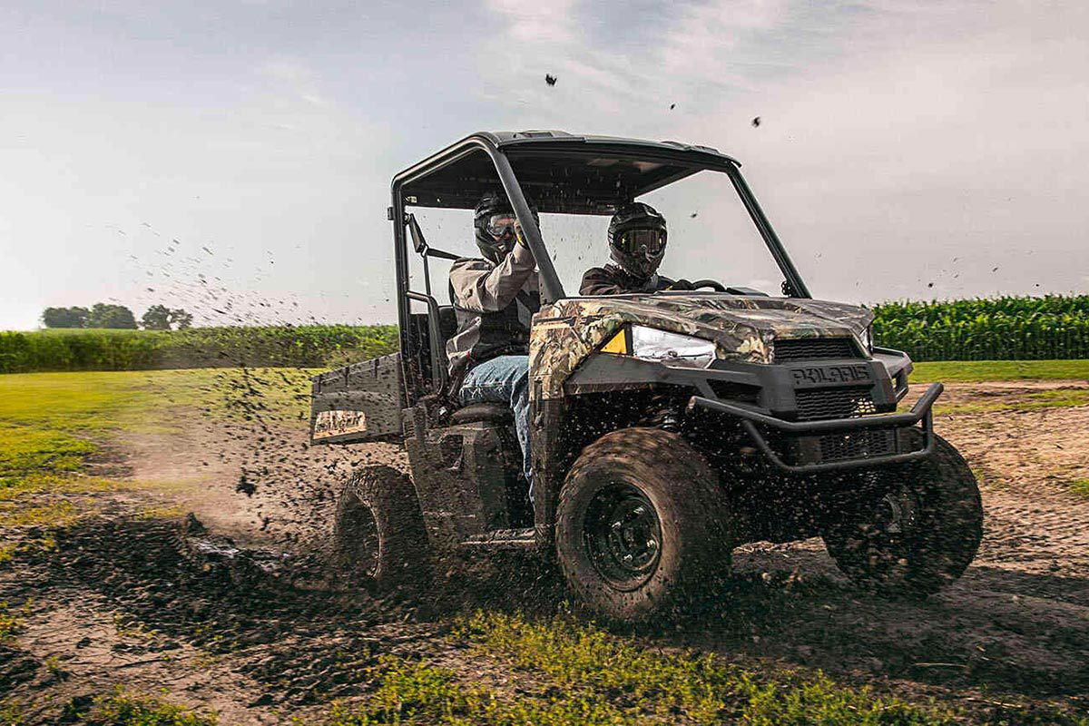 2022 Polaris Ranger EV tackling the hunting trail.