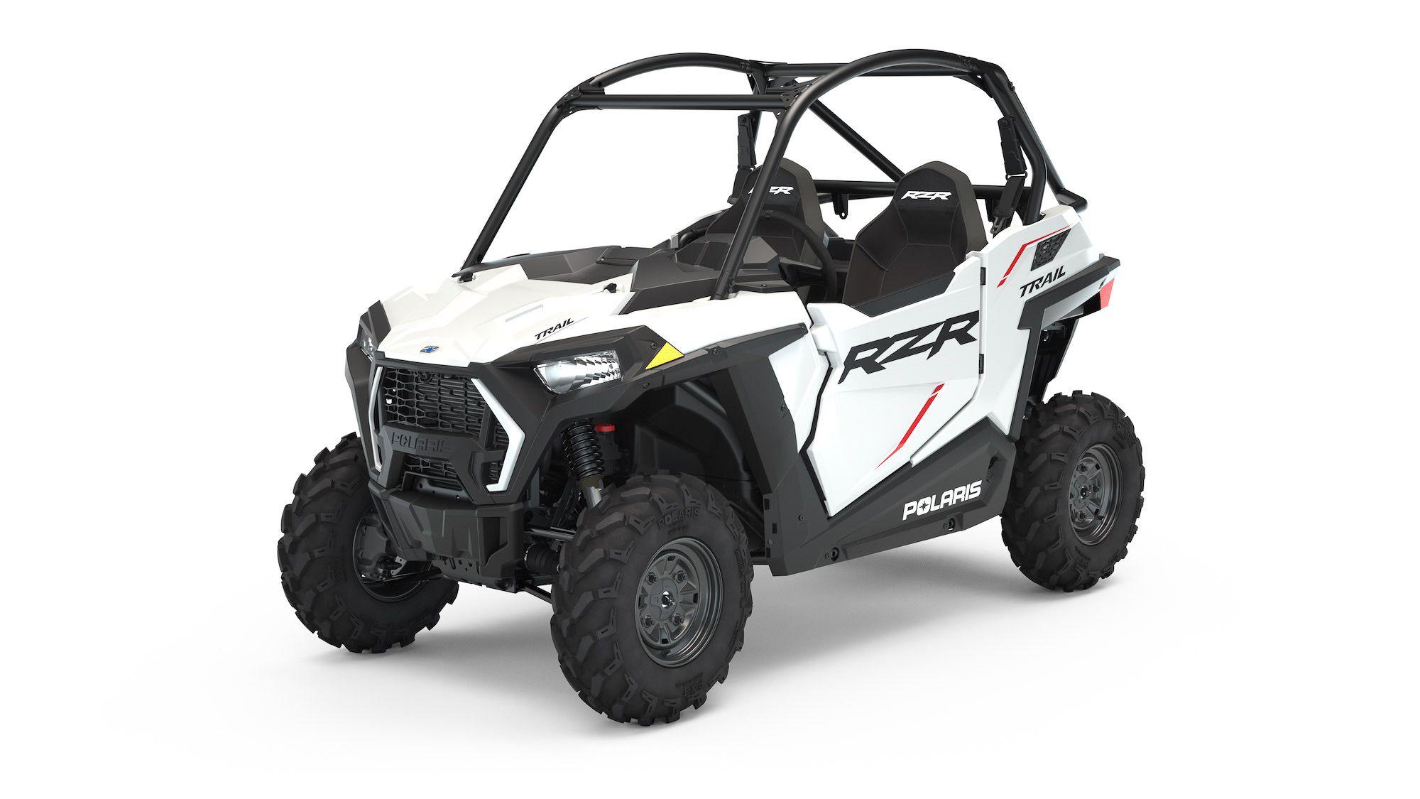 2022 Polaris RZR Trail Sport in White Lightning.