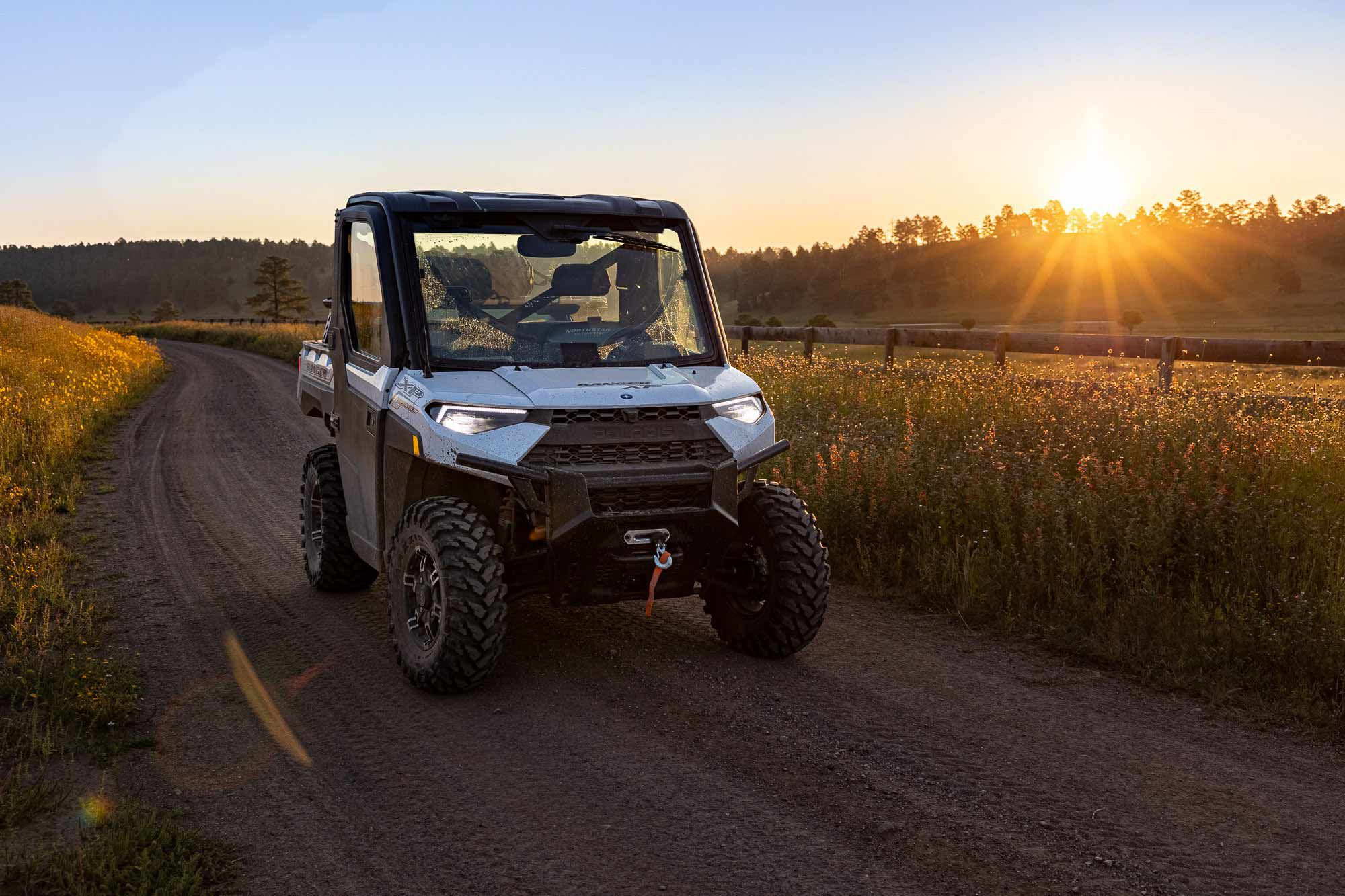 Over a week in the Gila, we covered more than 200 trouble-free miles in the 2021 Polaris Ranger XP 1000 Trail Boss NorthStar Edition. A utility-biased blend of work and recreation, the Trail Boss NorthStar Edition is made for terrain like this.