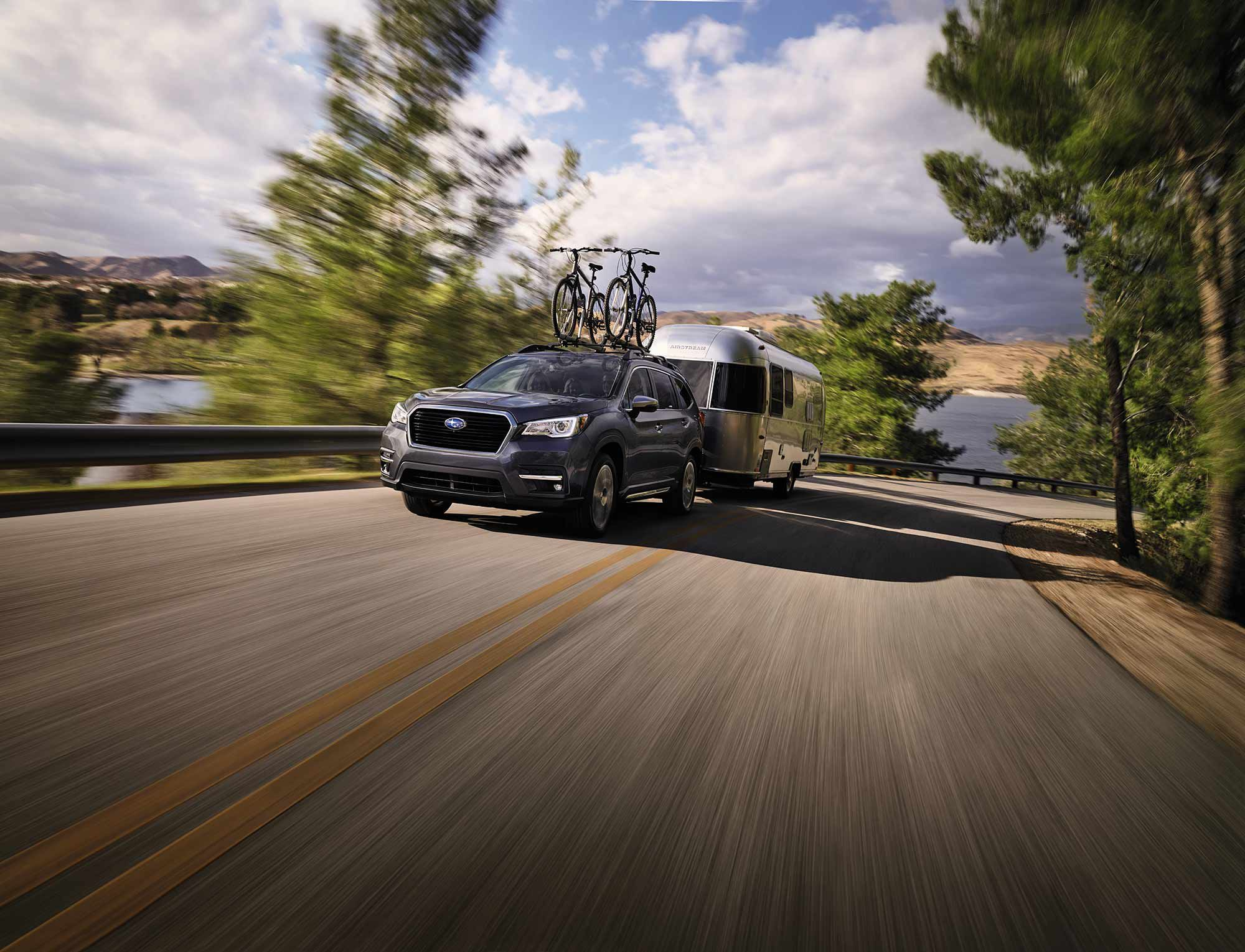 The 2021 Subaru Ascent can tow up to 5,000 pounds.