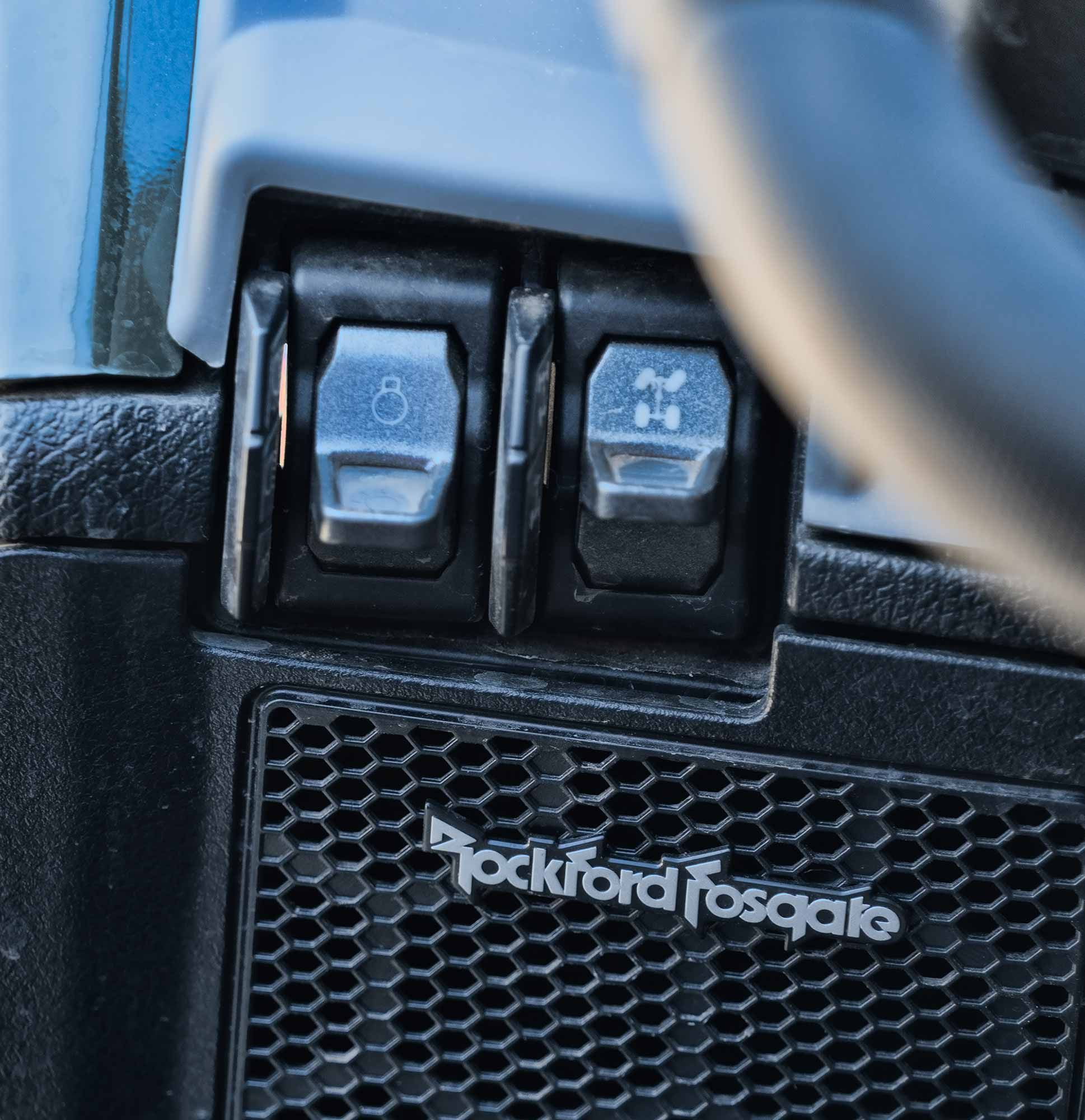 Upgraded switch gear and factory-integrated audio options make the Pro XP feel like a more well-rounded vehicle.