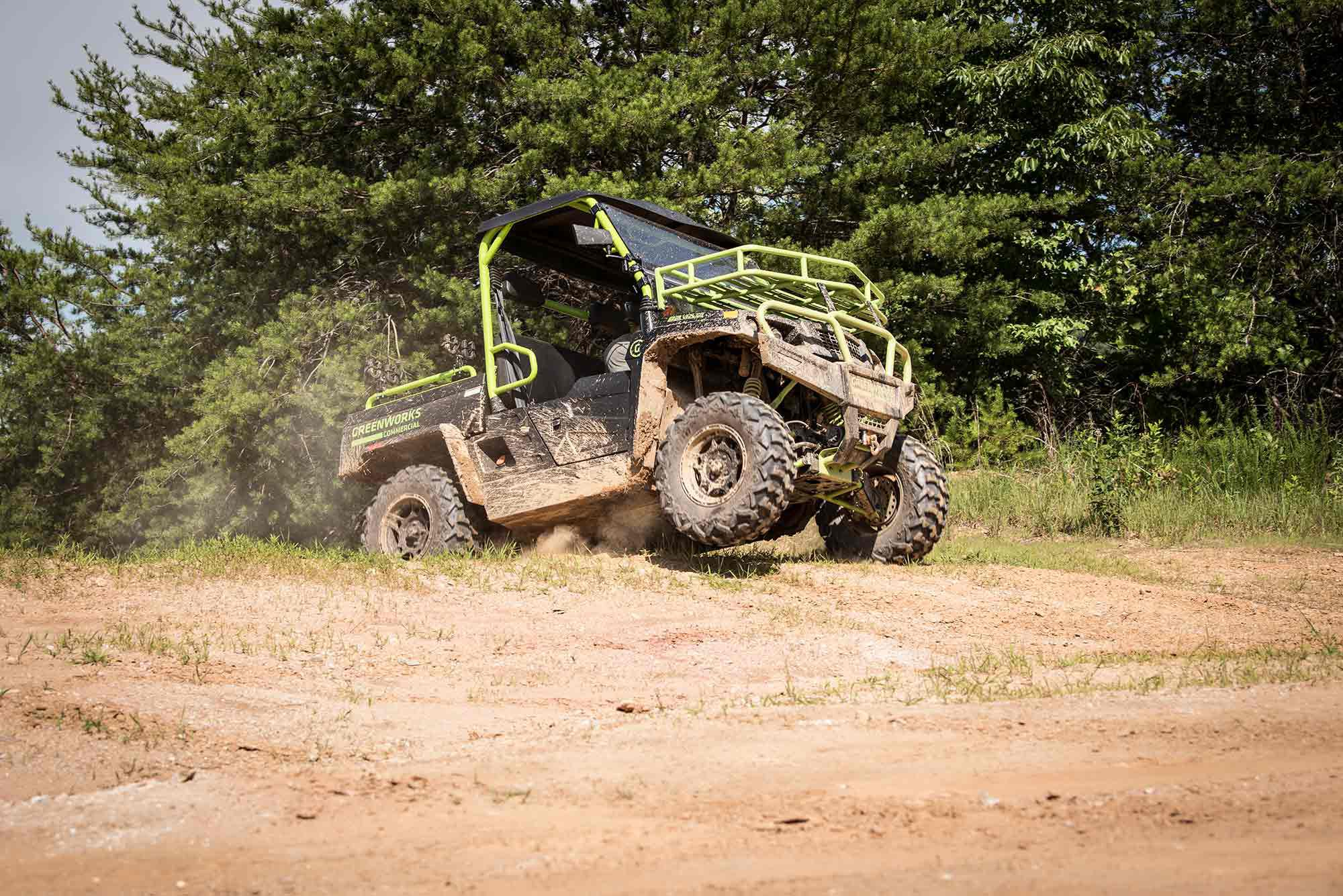 Don't let the battery pack fool you. This is a real UTV.